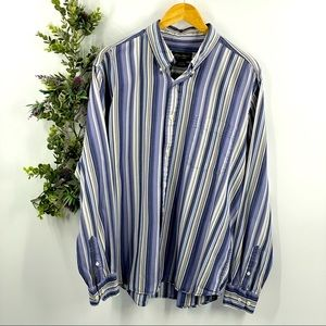 Eddie Bauer | Relaxed Fit Striped Button Up, sz L